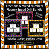 Editable Fractions Fluency Bundle 6 PowerPoints