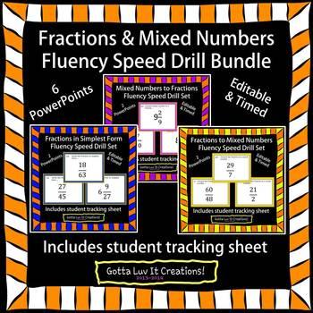 Editable Fractions Fluency Bundle - 6 PowerPoints