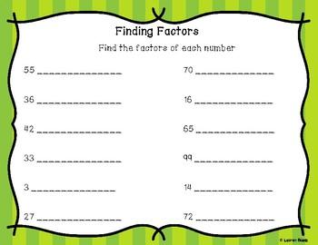 Fractions & More! (GCF, LCM, Simplest Form, Equivalent, Prime #'s, etc)