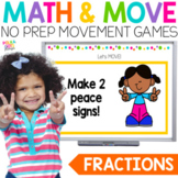 Fractions Movement Game for Google (TM) and PowerPoint Dis