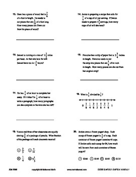 Fractions - Multiplication And Division Interactive Study Guide And Assessment