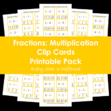 Fractions: Multiplication Clip Cards Printable Pack