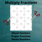 Fractions Multiplication Puzzle : All Types