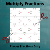 Fractions Multiplication Puzzle : Multiply Two Fractions