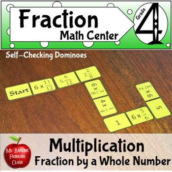 Fractions Multiplication of a Fraction by a Whole Number Dominoes