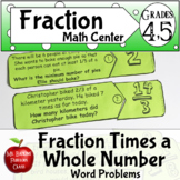 Multiplication of a Fraction by a Whole Number Word Problems