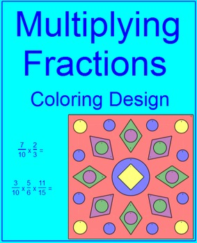 FRACTIONS: MULTIPLYING FRACTIONS #2 - COLORING ACTIVITY