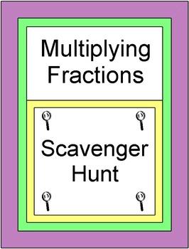 Fractions - Multiplying Fractions (Scavenger Hunt / Circuit) 20 Problems