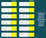 Fractions: Multiplying Improper Fractions - Google Classroom Ready!