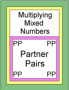 Fractions - Multiplying Mixed Numbers (Partner Pairs)