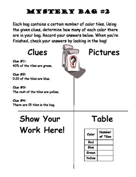Fractions Mystery Bags