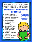 Fractions NF Bundle - 4th Grade Common Core Math -Spiral Bound HARD COPY