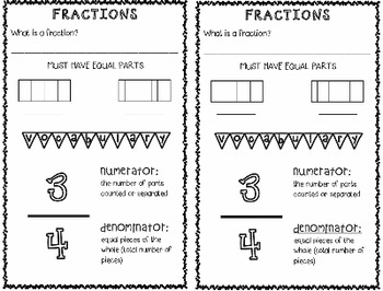 Third Grade Fractions Notebook