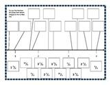 Fractions - Number Line Cut & Paste Activity