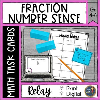 Fractions Number Sense Havoc Relay