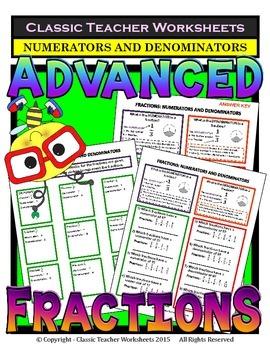 Fractions - Numerators and Denominators - Grades 5-6 (5th-6th Grade)