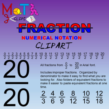 Fractions Numerical Notation Clipart