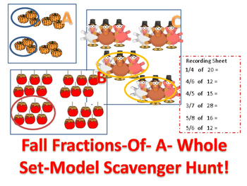 Fractions-Of-A-Whole Fall Set-Model Scavenger Hunt