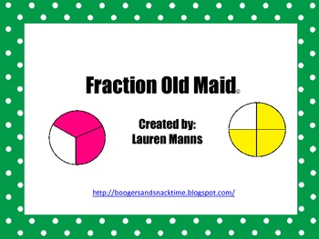 Fractions Old Maid