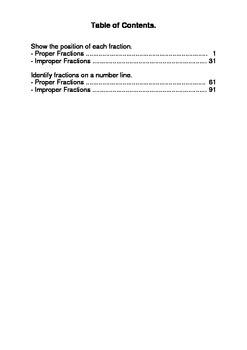 Fractions On A Number Line Worksheets