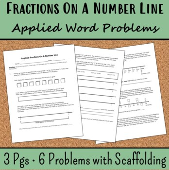 Fractions On A Number Line Applied Word Problems