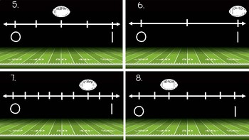 Fractions On A Number Line-Football Themed!