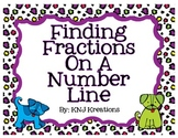 Fractions On A Number Line - Intro Tutorial, Task Cards & Game!