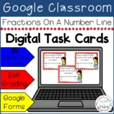 Fractions On A Number Line Task Cards - Google Drive & Google Classroom