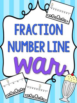 Fractions On A Number Line War: Math Game Center