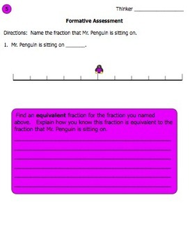 Fractions On A Number Line - Where Is Mr. Penguin Sitting?