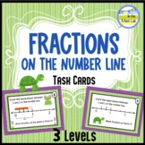 Fractions on a Number Line Task Cards - 3 Levels