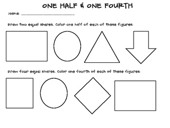 Fractions: One Half & One Fourth