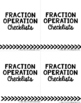 Fractions Operations Checklists