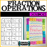 Fractions Operations Dominoes Puzzle for Interactive Notebook