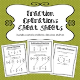 Fractions Operations Cheat Sheets/Reference Sheets
