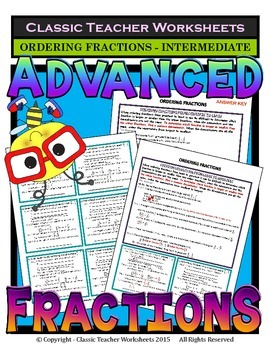 Fractions -Ordering Fractions Least to Greatest & Greatest to Least-Intermediate