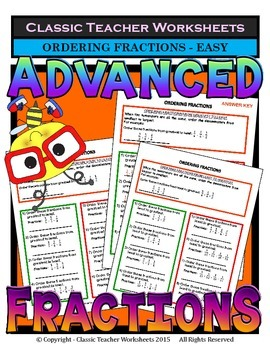 Fractions - Ordering Fractions from Least to Greatest & Greatest to Least - Easy