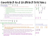 Fractions- Ordering and Comparing
