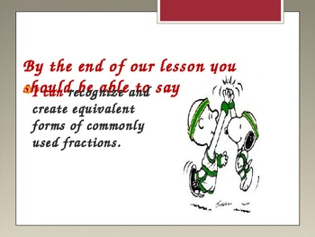 Fractions PPT- Equivalent, review, common core tasks
