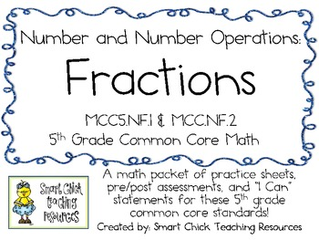 Fractions Pack ~ Common Core Math 5th Grade ~ Mastery Check