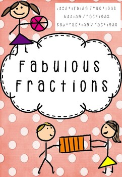 Fractions Pack - Identifying , Adding and Subtracting Fraction Worksheets