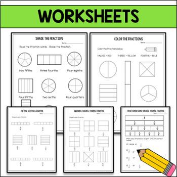 Fractions Worksheets & Activities