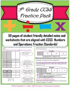 Fractions Pack: Student Notes