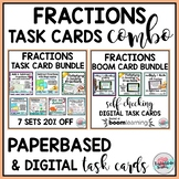 Fractions Paperbased & Boom Cards COMBO BUNDLE | Fractions