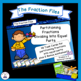Identify Fractions by Partitioning Unit Fractions Task Cards