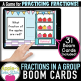 Fractions - Parts of a Group | Boom Cards™ - Distance Learning