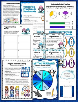 Comparing Fractions Games, Lessons, and Activities (Penguin Fractions)