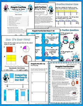 Fractions - Lessons, Printables, and Activities (Penguin Fractions)