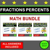 Fractions Percents Fractions of a Quantity Percentages of