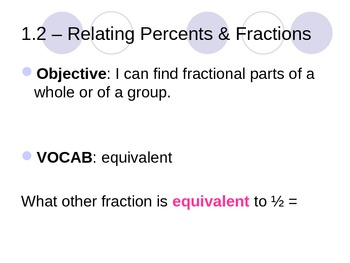 Fractions & Percents PowerPoint - 125 Slides!
